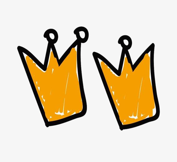 手绘双皇冠简笔画