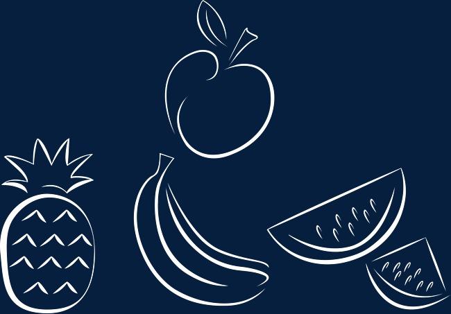 水果矢量图粉笔水果卡通水果手绘水果粉笔画水果矢量