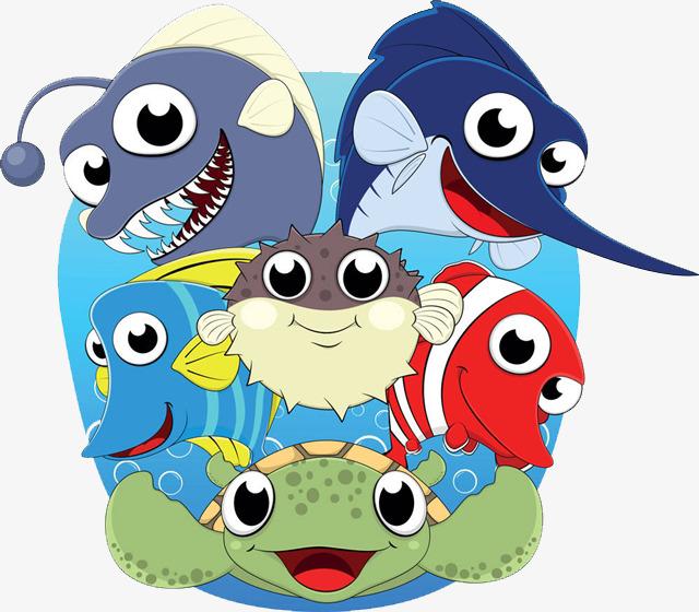 类微笑图标海鲜简笔画-海洋生物图标素材图片免费下载 高清png 千