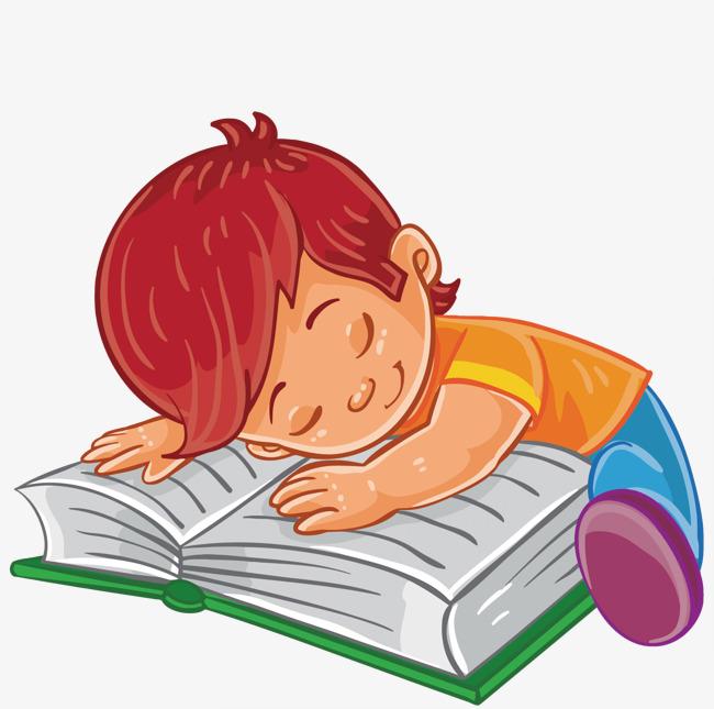 矢量看书的小孩