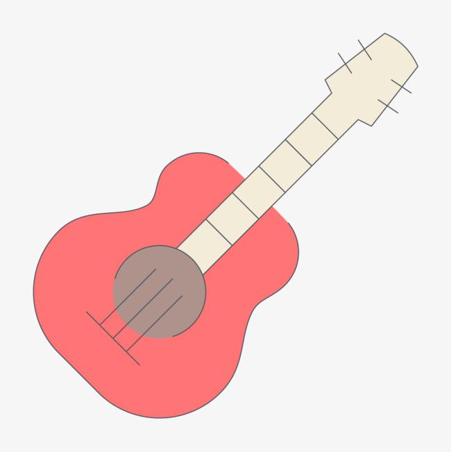手绘线条吉他