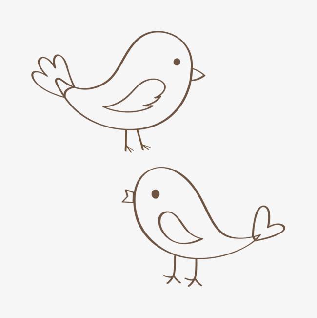 简单线条鸟儿简笔画