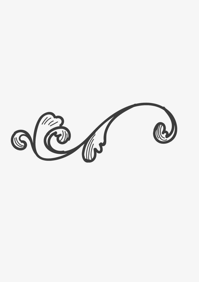 手绘简单藤蔓