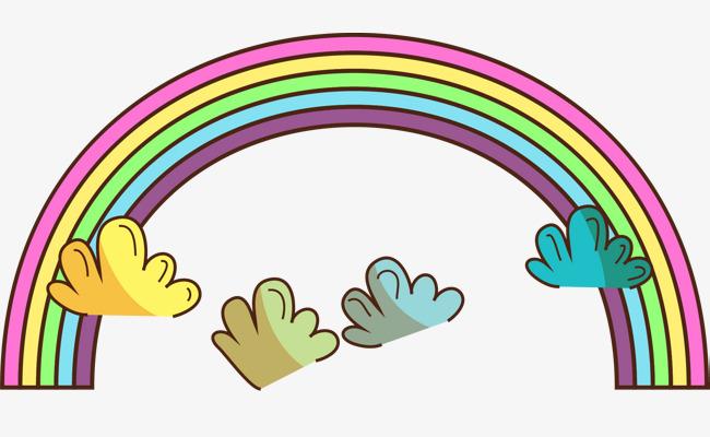 卡通彩虹蜡笔彩虹手绘彩虹 蜡笔 彩虹 童话卡通彩虹 蜡笔彩虹 手绘彩