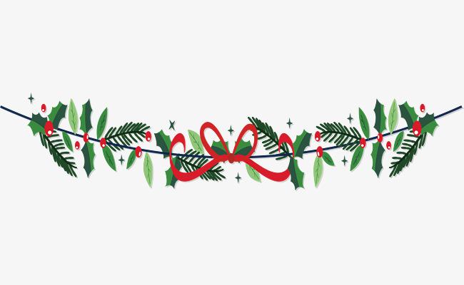 红色彩带蝴蝶结边框
