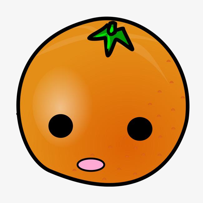 手绘卡通橘子