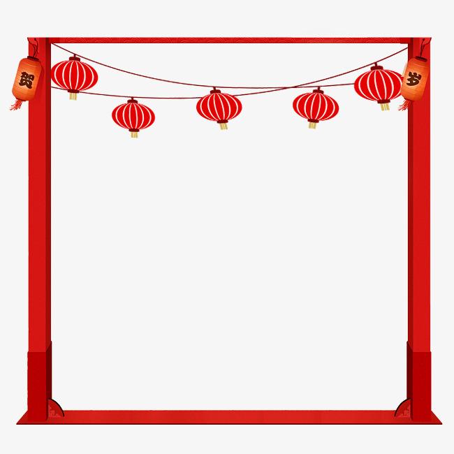 中国风灯笼边框