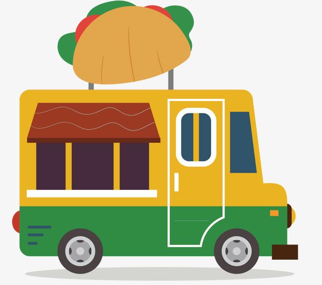 卡通餐车矢量图片