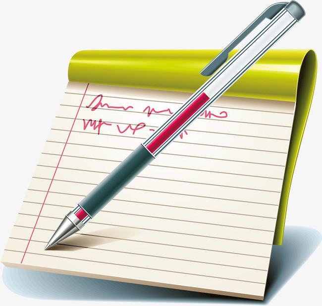 手绘本子钢笔图案【高清装饰元素png素材】-90设计