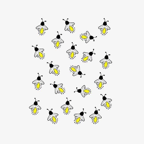 卡通一群萤火虫图片