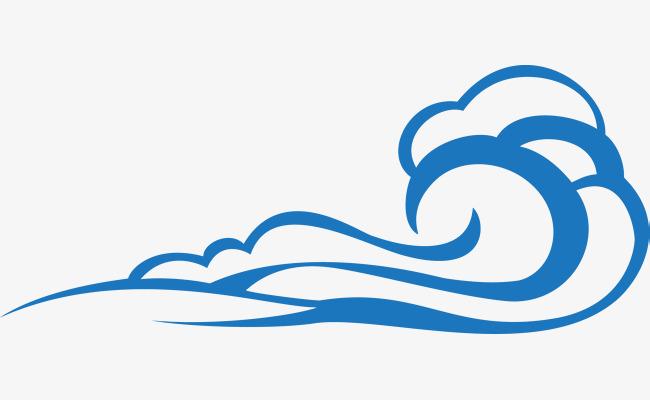 手绘精美蓝色云朵
