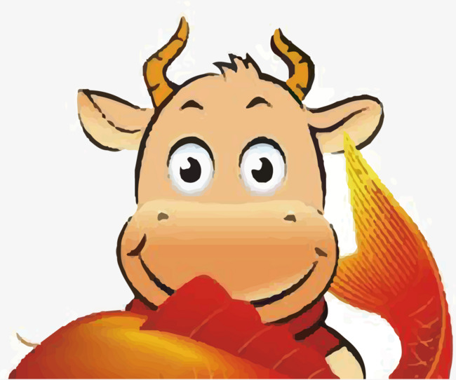 开心的小牛图片