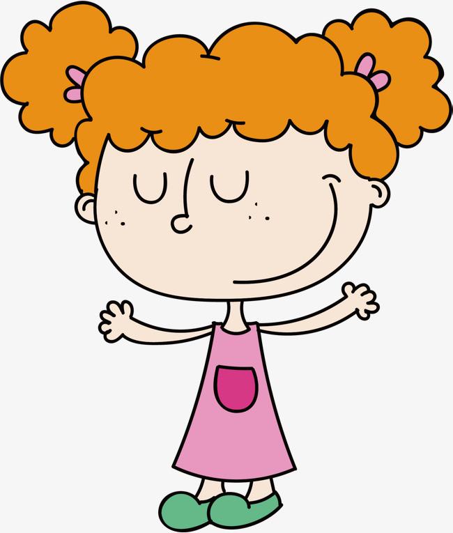 卷发卡通女孩矢量png素材下载_高清图片png格式(编号:图片