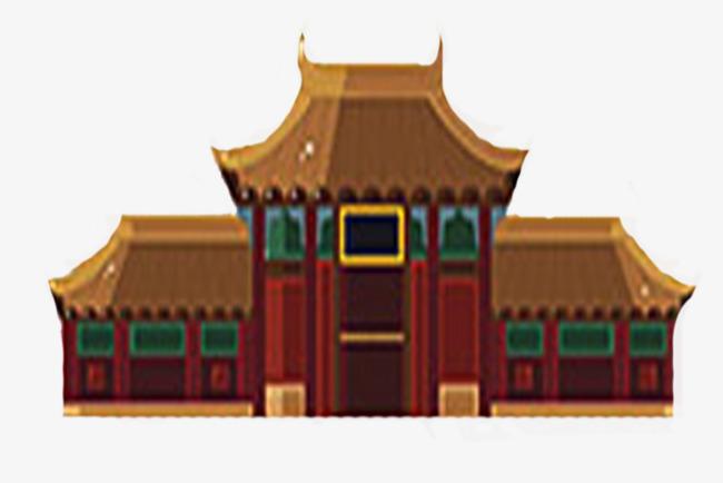 午门建筑故宫手绘