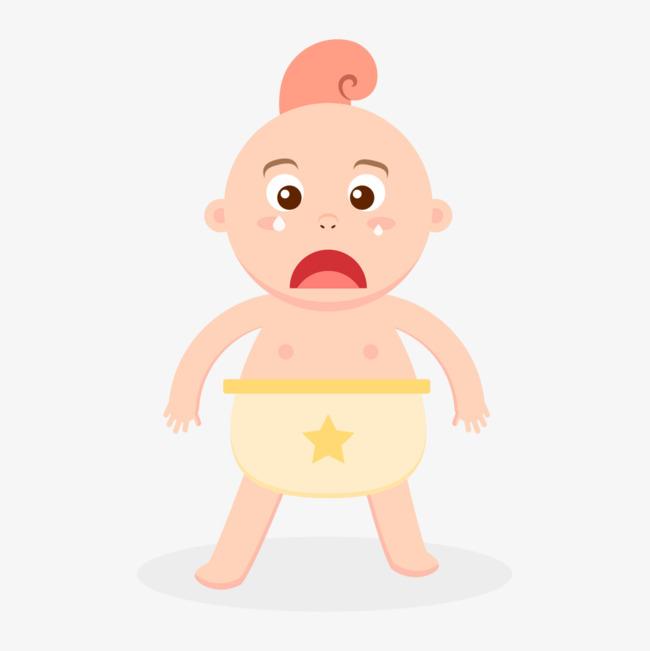 卡通难过的婴儿图片