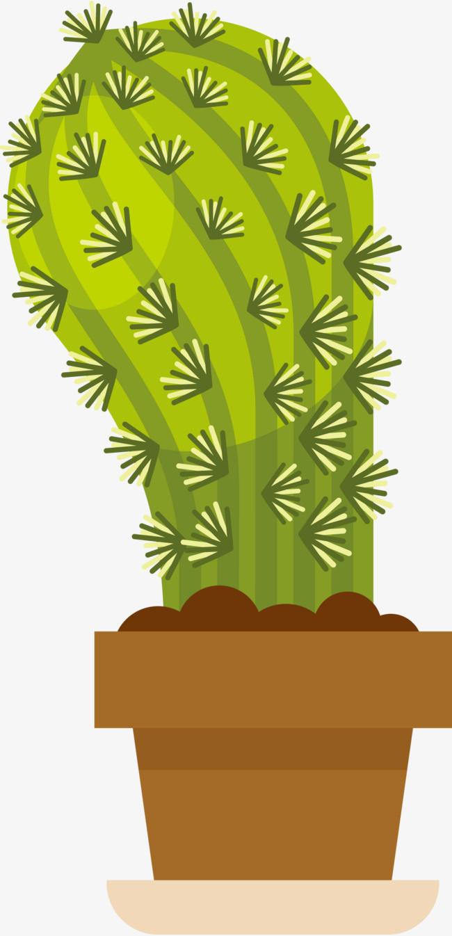 绿色手绘仙人掌