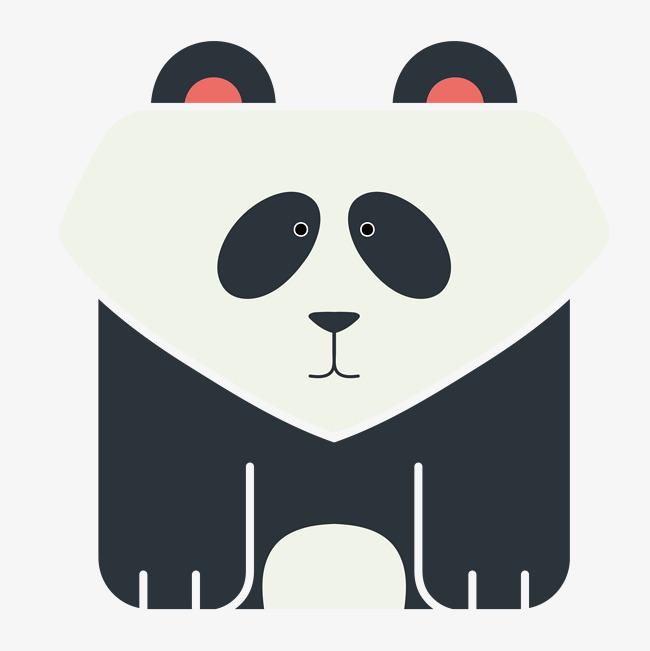 手绘可爱的大熊猫