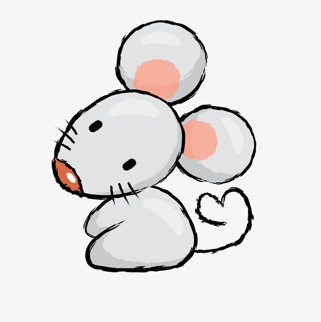 灰色卡通小老鼠图片
