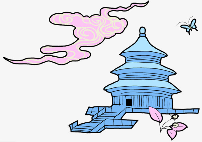 简笔画天坛故宫手绘