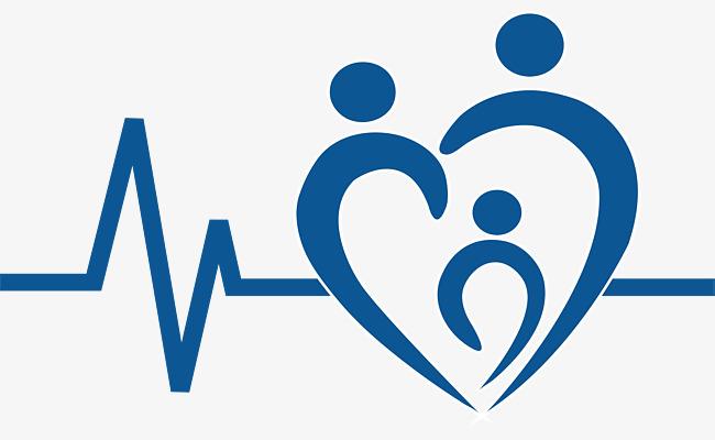蓝色心电医疗标志