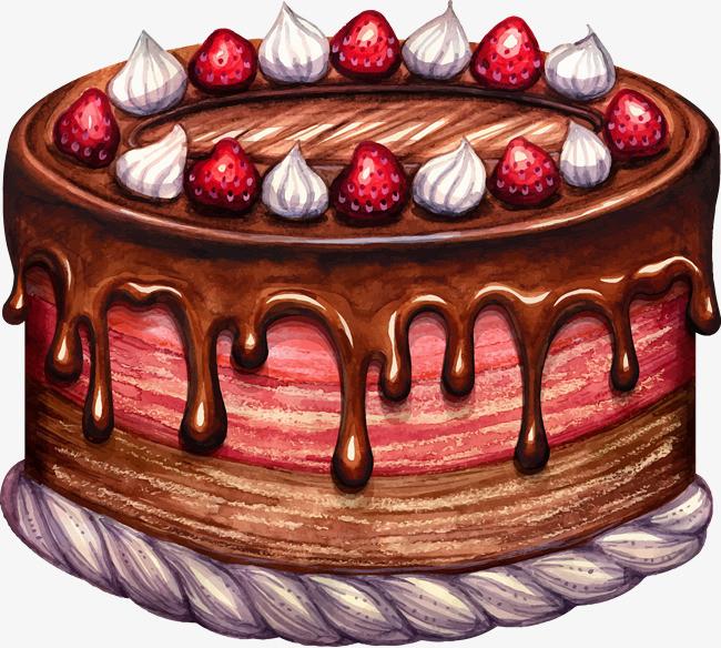手绘彩铅蛋糕
