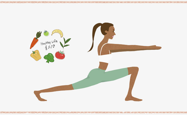 手绘瑜伽海报