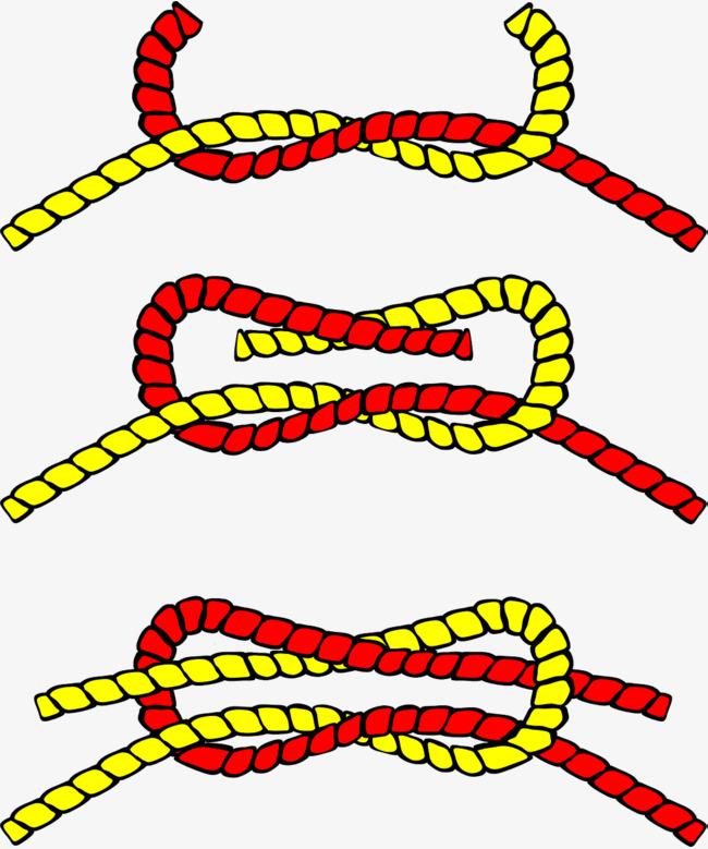 手绘彩色绳子
