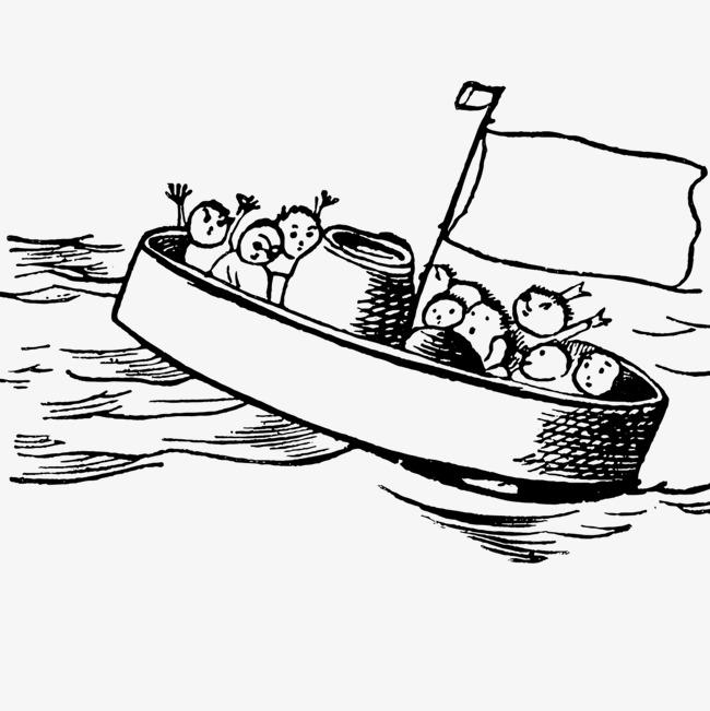 简笔画小船