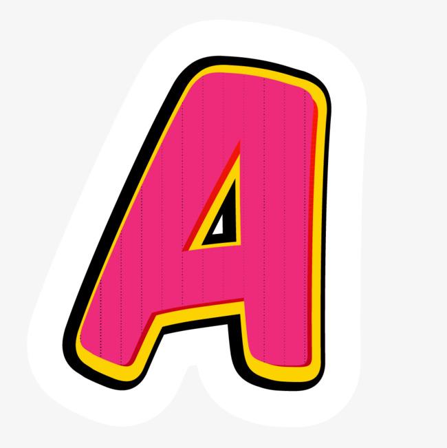 卡通粉红色英文字母appt样式图片