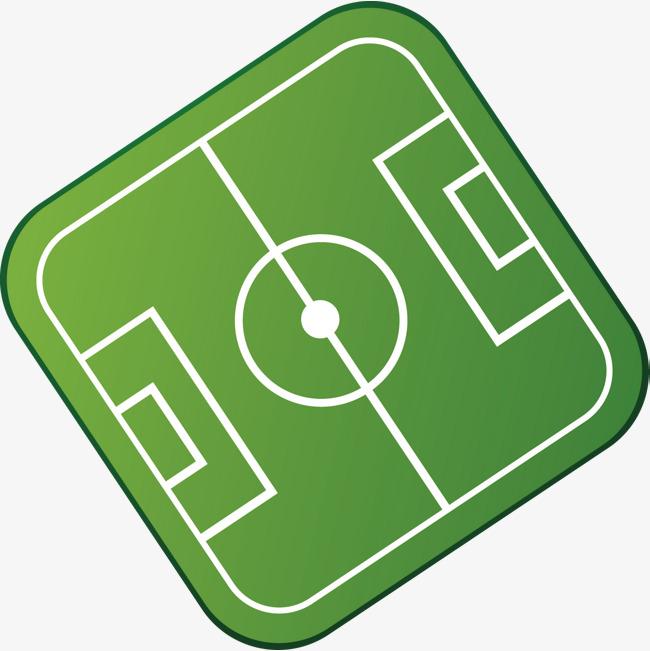 手绘精美绿色足球场