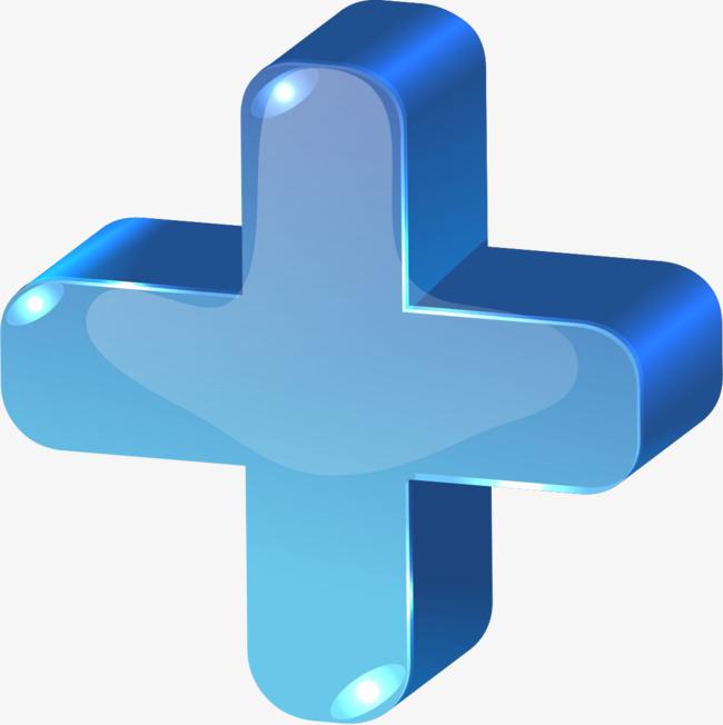 蓝色加号_png素材免费_ 1099*1101像素(编号:)_90