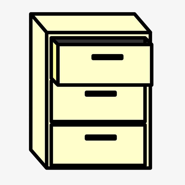 简笔手绘家具柜子