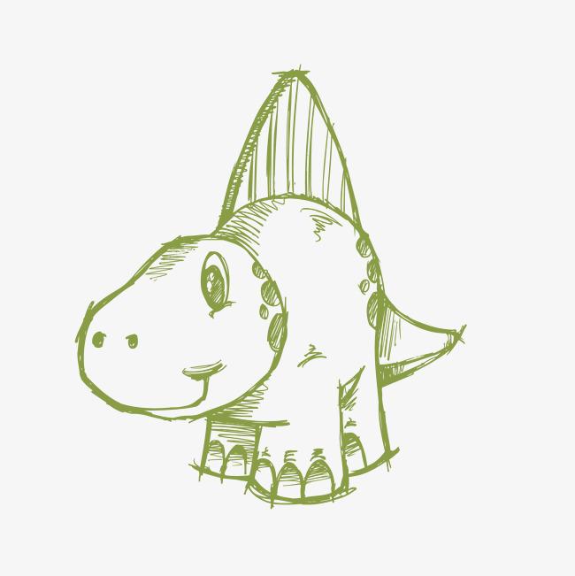 卡通可爱小恐龙png