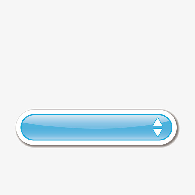 卡通电商蓝色长条按钮图标png素材下载_高清图片png图片