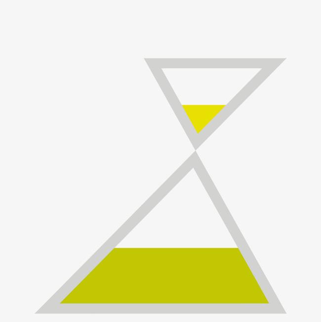 两个手绘黄色三角形