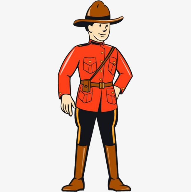 卡通穿制服的保安图片