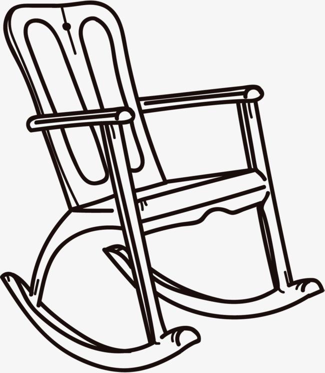 家具 简笔画 手绘 线稿 椅 椅子 650_745