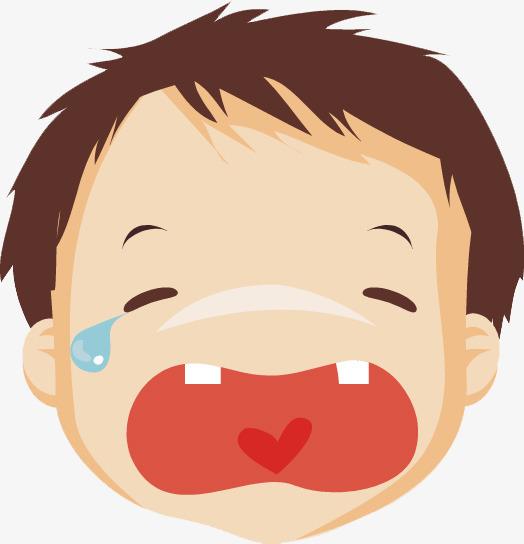 手绘哭泣的表情包