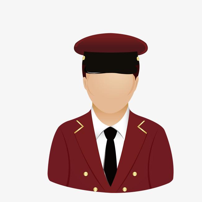 头像 公务员卡通头像 人物 办公人物 红色衣服 领带头像 公务员 卡通图片