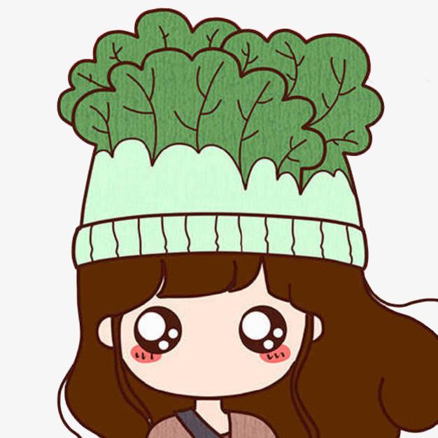 卡通 大白菜 美女 帽子 可爱 插画 手绘 蔬菜 卡通大白菜png免费下图片