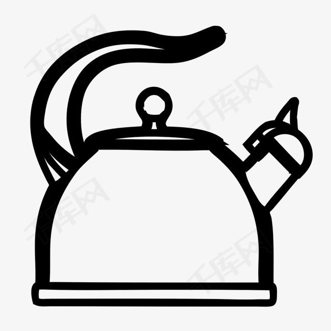 手绘简笔画热水壶素材图片免费下载 高清png 千库网 图片编号9350629