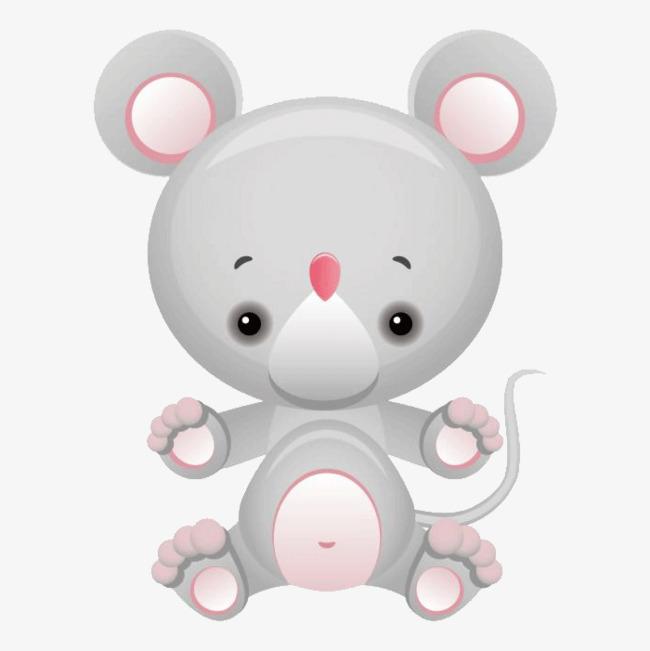 手绘卡通可爱老鼠