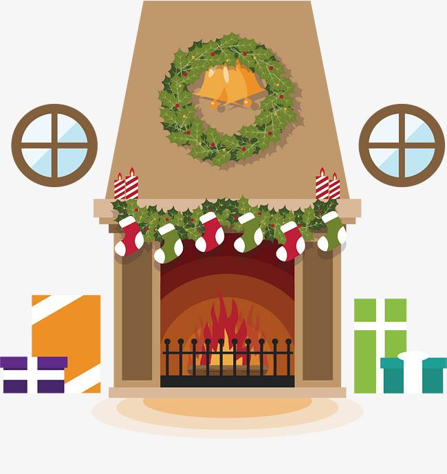 欧式圣诞壁炉