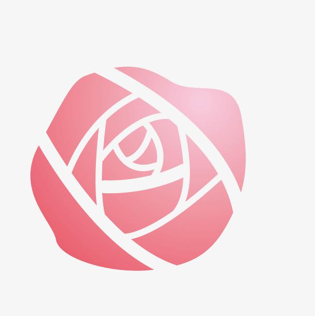 红色手绘的创意玫瑰花图片