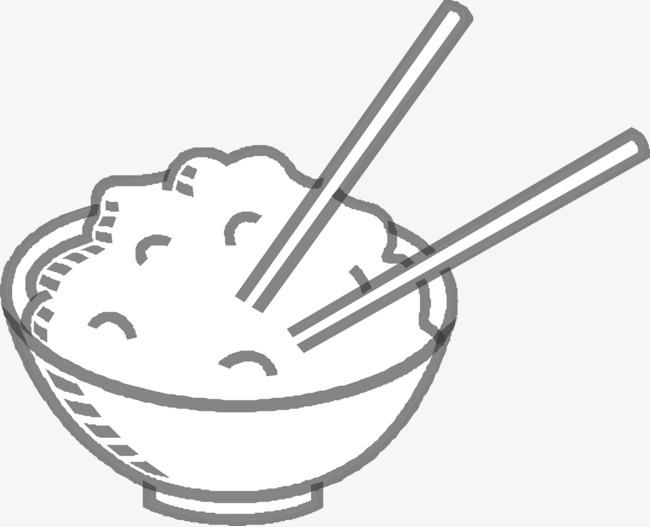 手绘一碗米饭图片