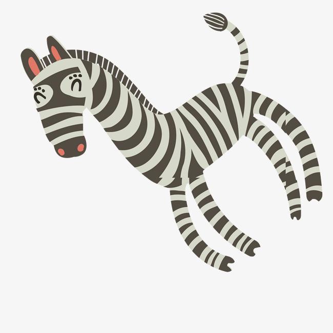 可爱斑马手绘简图