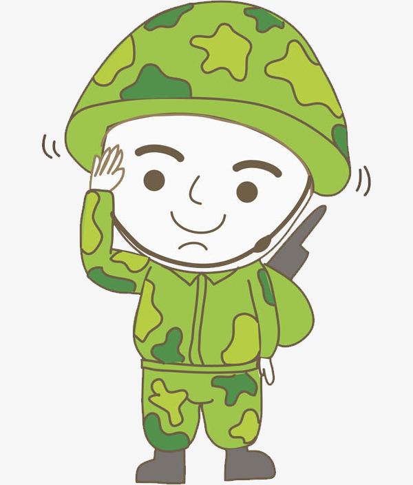 敬礼的军人图片