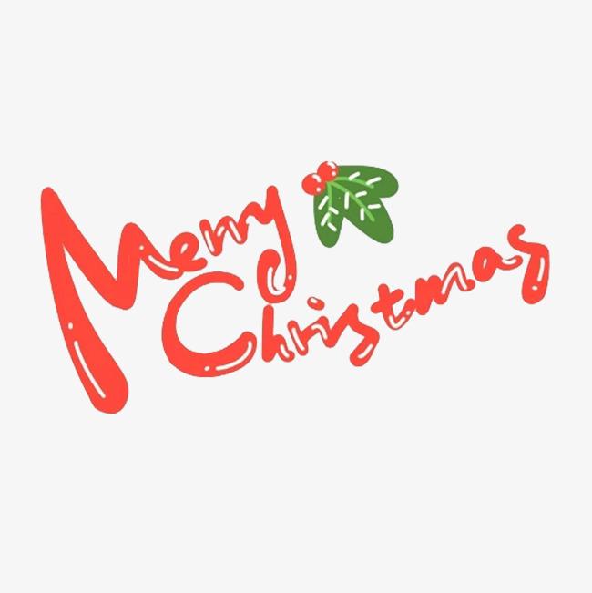 卡通圣诞快乐英文字素材