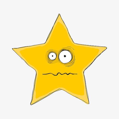 卡通眩晕的五角星图片