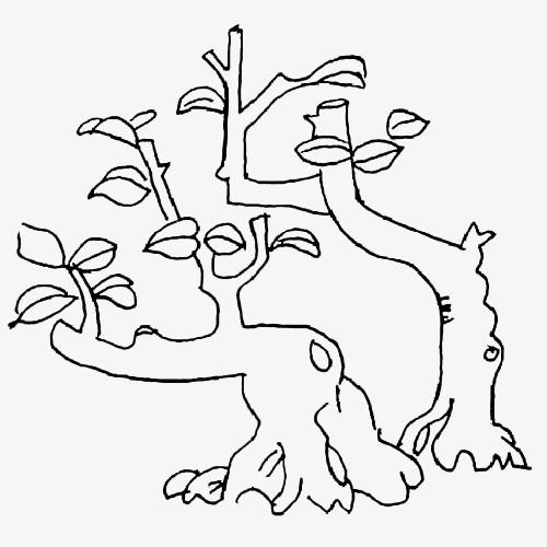 古树手绘简笔画素材图片免费下载 高清png 千库网 图片编号9382980